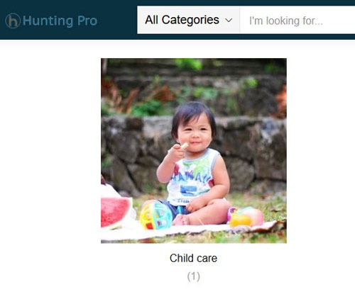 child care category